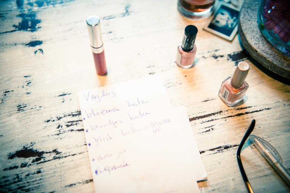 Todo list voor bruiloft